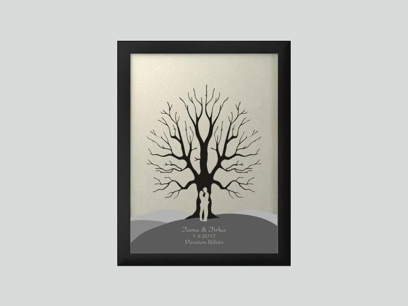 Svatební strom 6 se jmény 34 x 44 cm