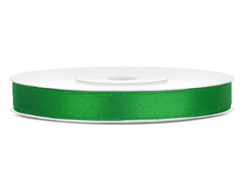 Tmavě zelené saténové stuhy - 25 m / 1,2 cm