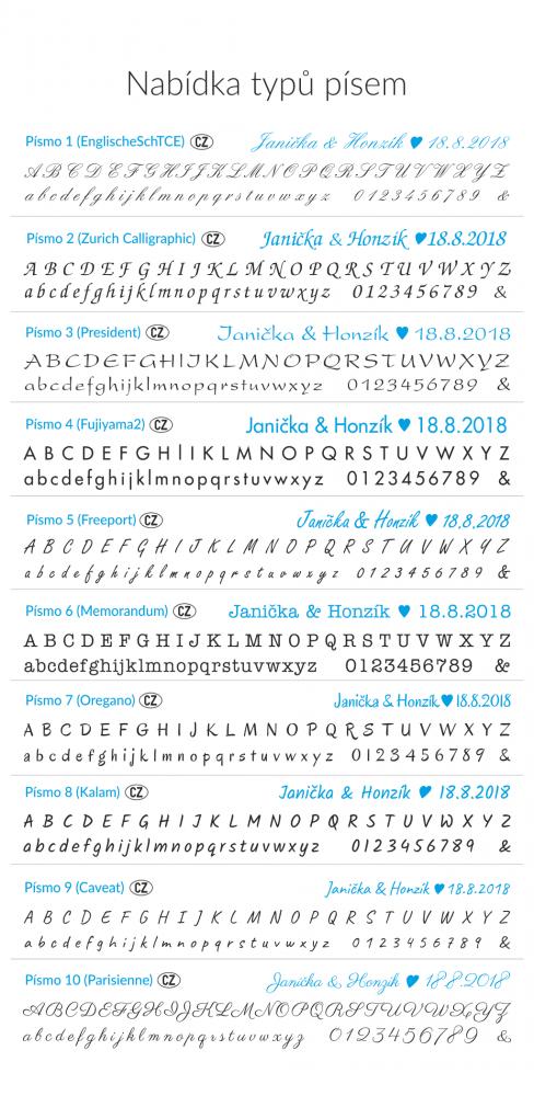 Kulaté manžetové knoflíčky s monogramem
