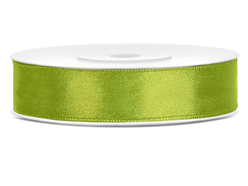 Zelené saténové stuhy - 25 m / 2,5 cm