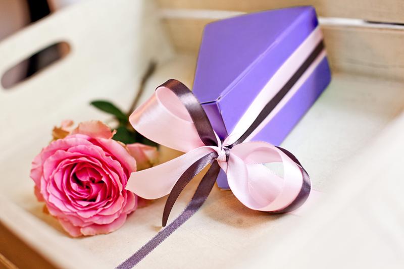 Krabičky na výslužky - fialové
