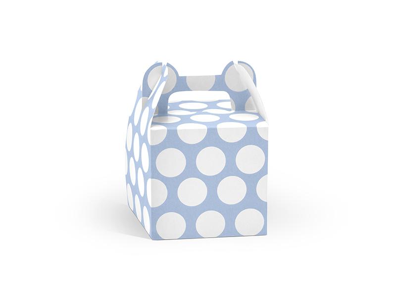 Krabičky Dot na výslužky - modrá