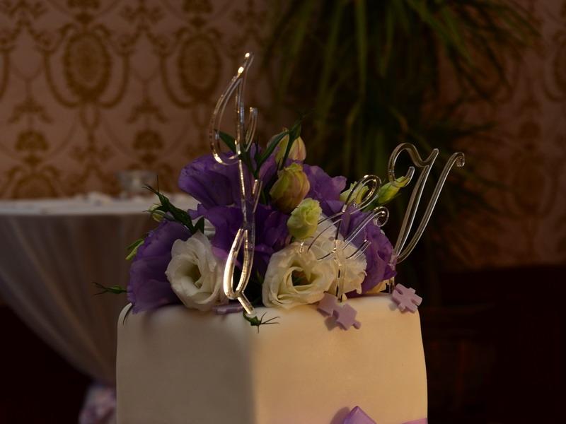 Písmeno na dort - & - čiré