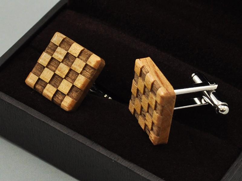 Manžetové knoflíčky - chessboard
