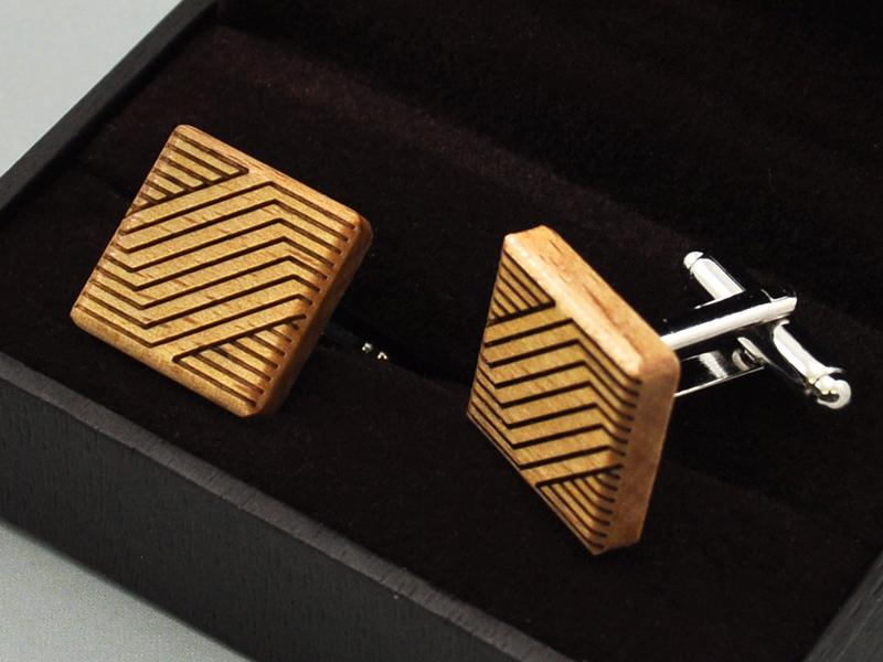 Manžetové knoflíčky - lines square