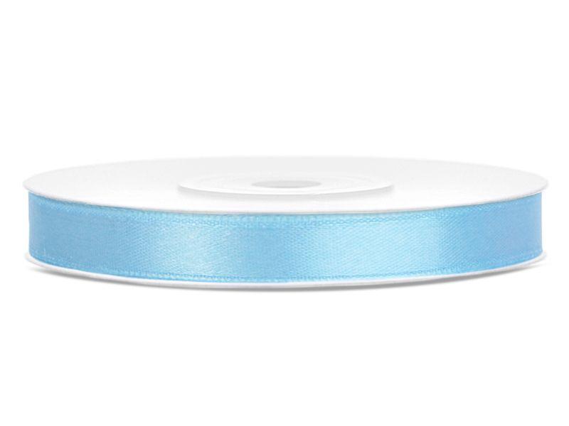 Světle modré saténové stuhy - 25 m / 1,2 cm