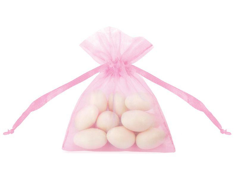 Organzové dárkové sáčky - světle růžové