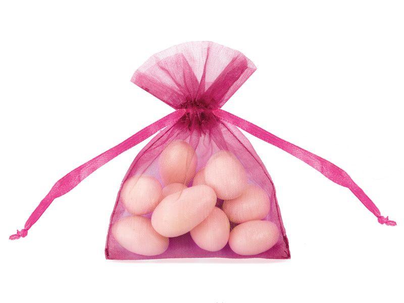Organzové dárkové sáčky - tmavě růžové