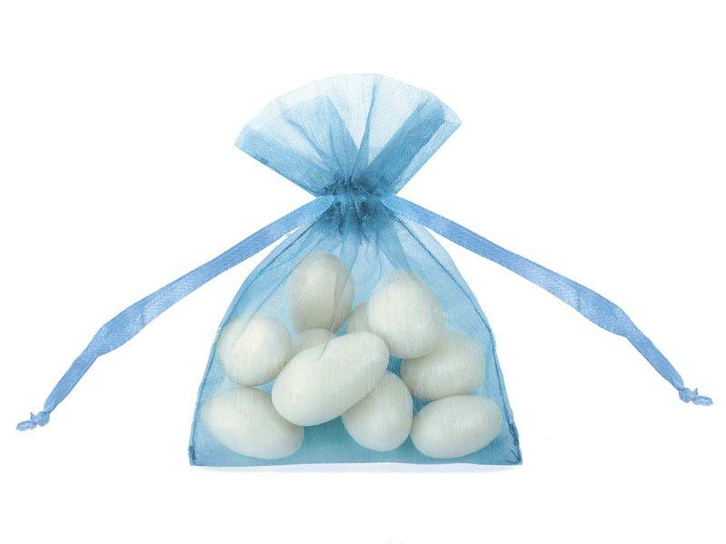 Organzové dárkové sáčky - modré