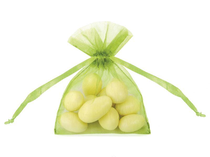 Organzové dárkové sáčky - zelené
