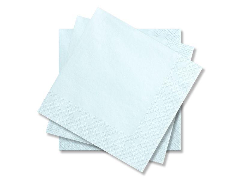 Svatební ubrousky Premium - světle modré