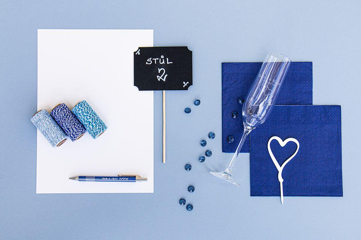 Svatební ubrousky Premium - námořní modř