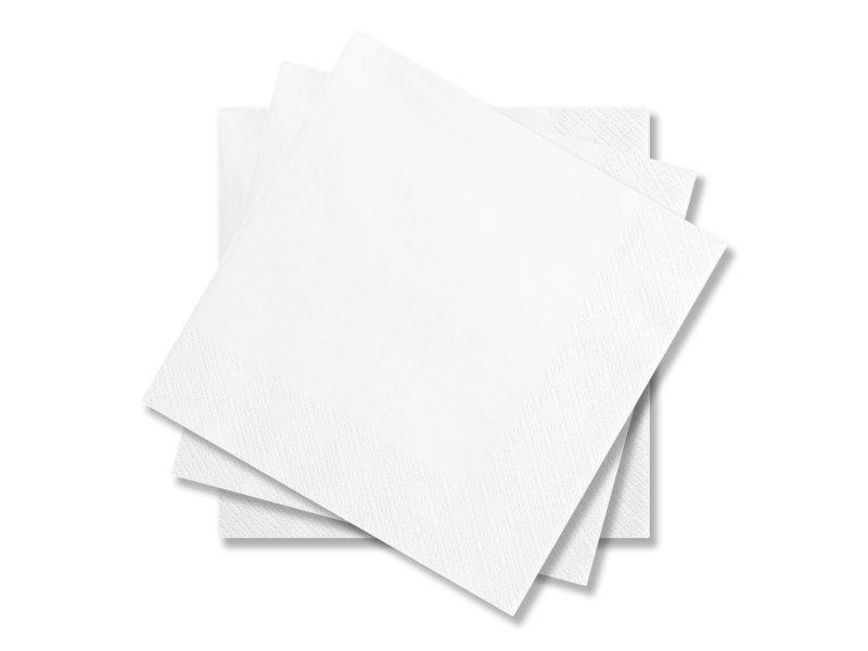 Svatební ubrousky Premium - bílé