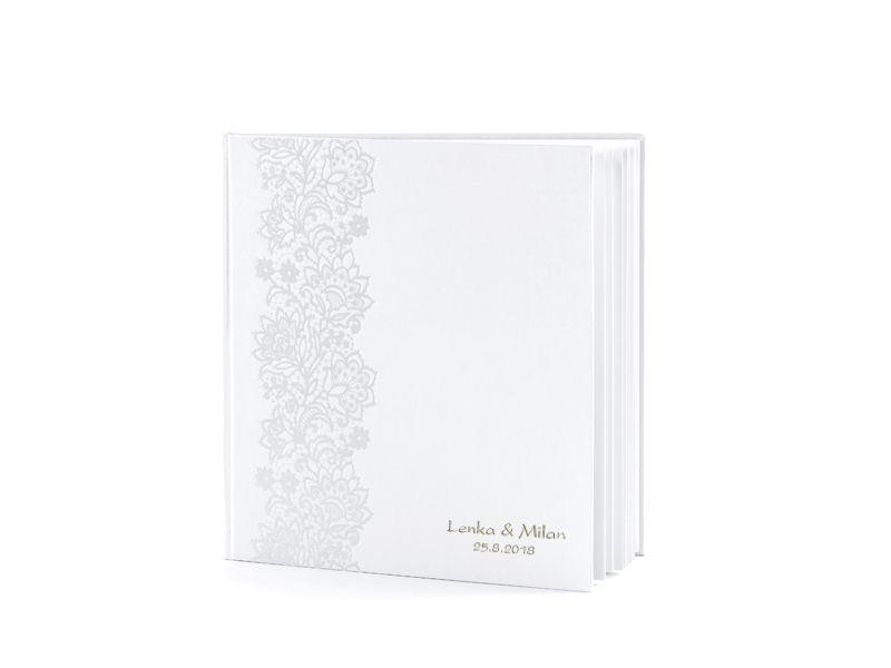 Svatební kniha hostů s ornamentem a se jmény