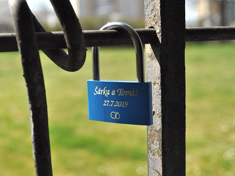 Zámek lásky se jmény - modrý