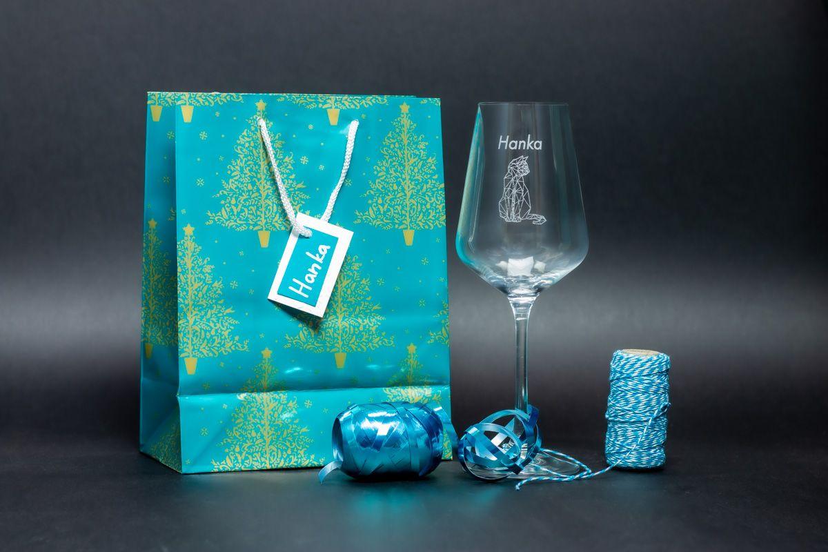 Svatební skleničky na víno se jmény - Sandra - od 48 ks