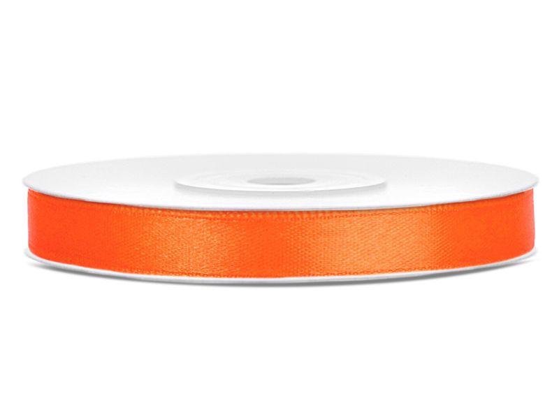 Oranžové saténové stuhy - 25 m / 1,2 cm