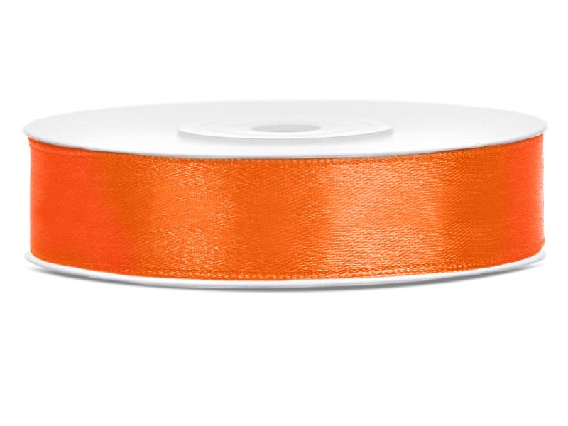 Oranžové saténové stuhy - 25 m / 2,5 cm