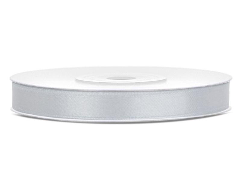 Stříbrné saténové stuhy - 25 m / 1,2 cm