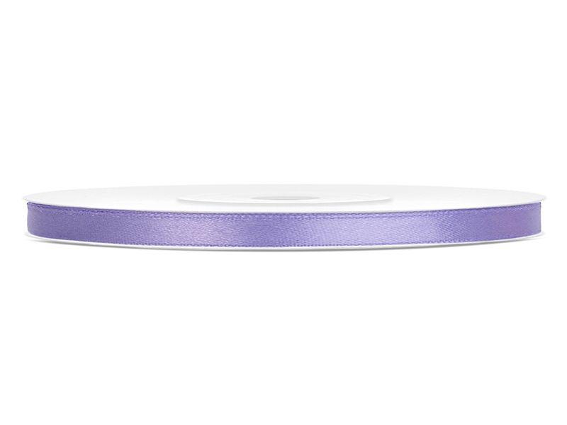Saténové stuhy lila - 25 m / 0,6 cm