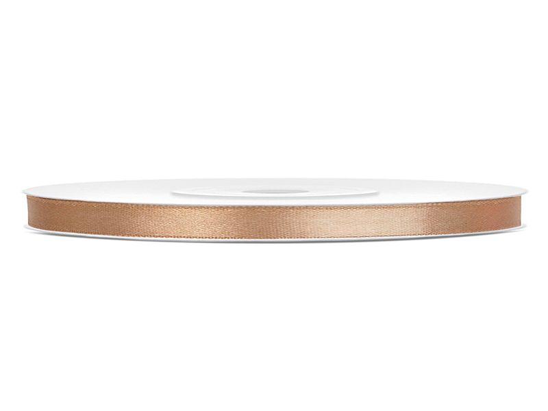Světle zlaté saténové stuhy - 25 m / 0,6 cm