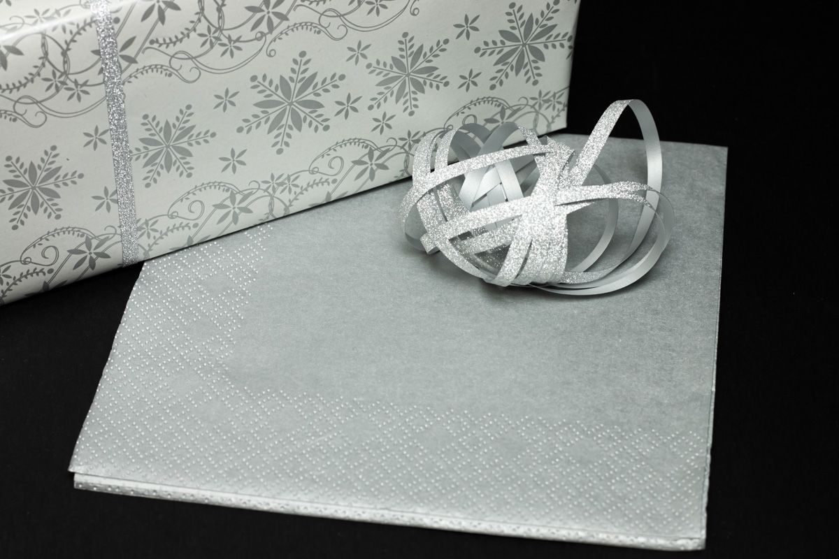 Svatební ubrousky Premium - stříbrné