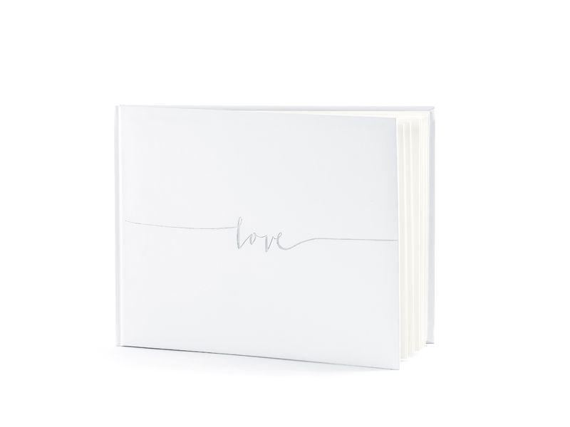 Kniha hostů se stříbrným Love a se jmény