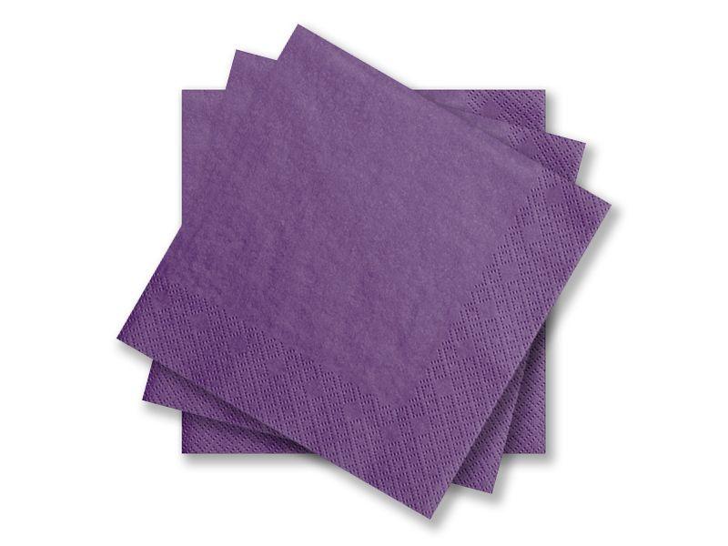 Svatební ubrousky Premium - tmavě fialové