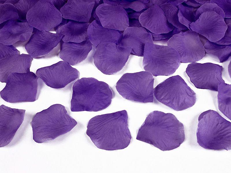 Okvětní lístky růže 500 ks - fialové