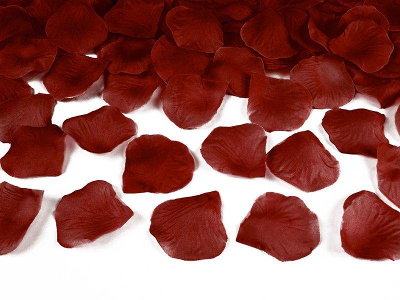Okvětní lístky růže 500 ks - bordó