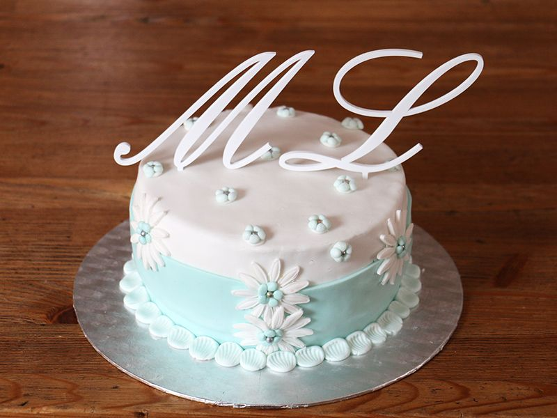 Písmeno na dort - M - bílé