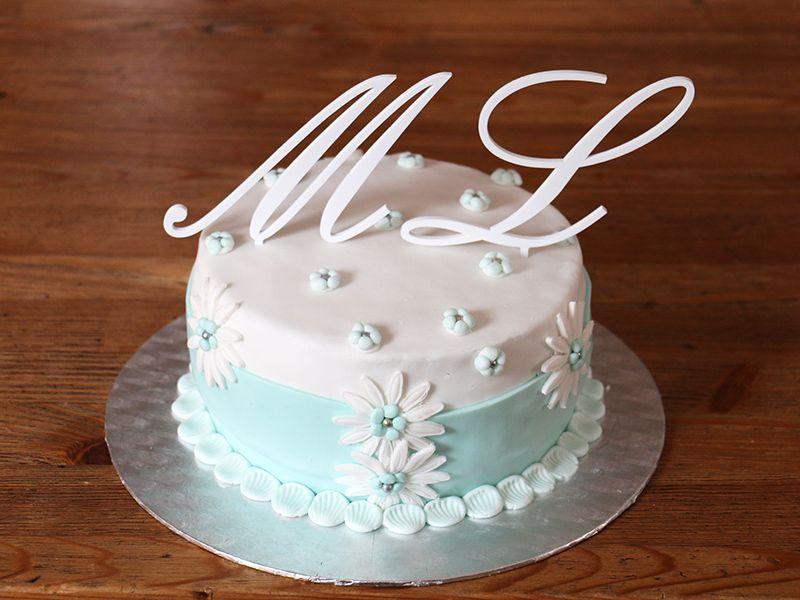 Písmeno na dort - L - bílé
