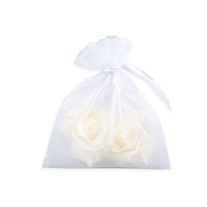 Organzové dárkové sáčky - velké bílé
