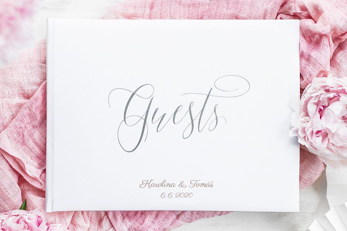 Kniha hostů se stříbrným Guests se jmény
