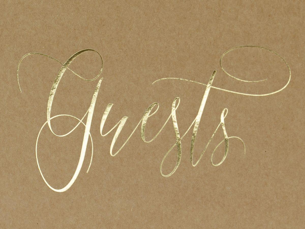Kniha hostů se zlatým Guests se jmény