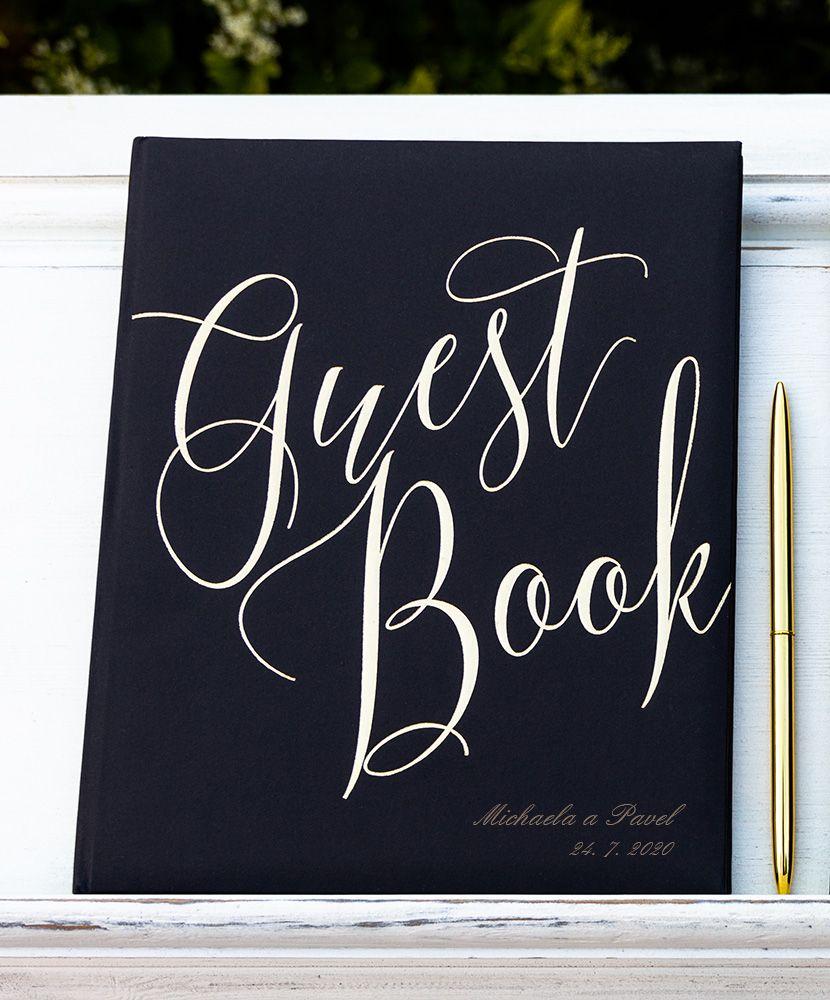 Kniha hostů Guest Book se jmény