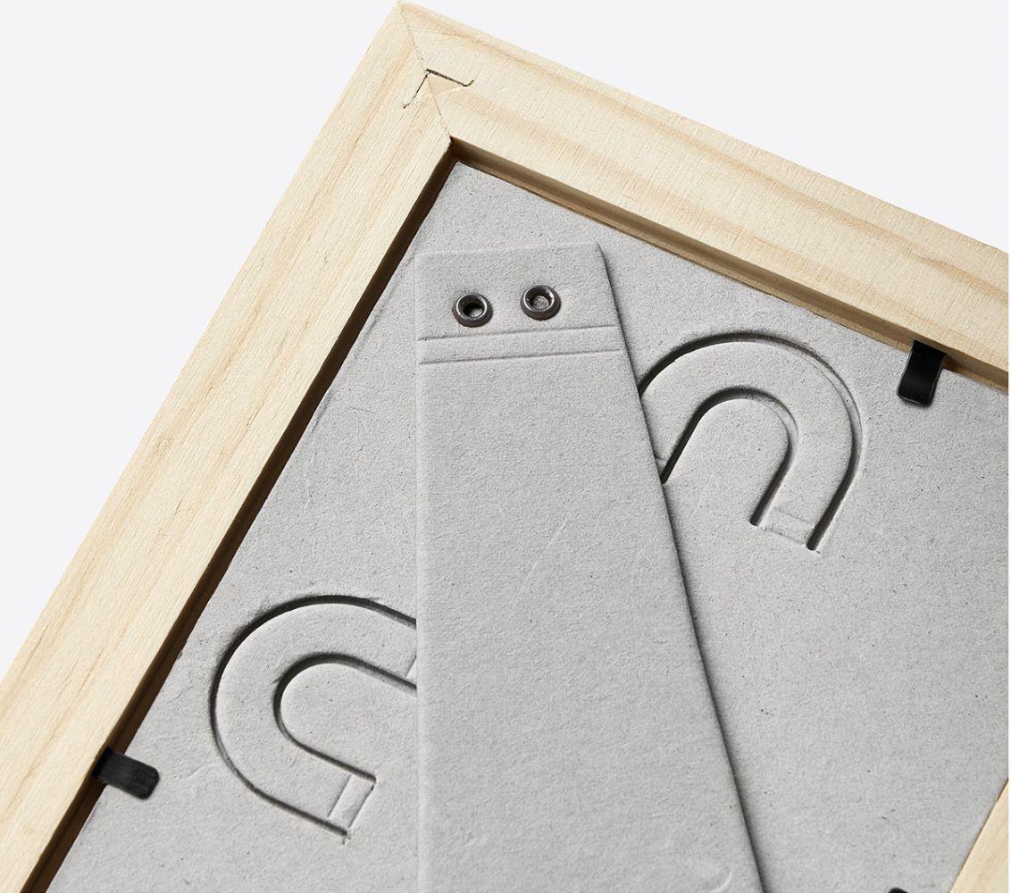 Dřevěný rámeček na fotku 21x30 cm s vlastním textem