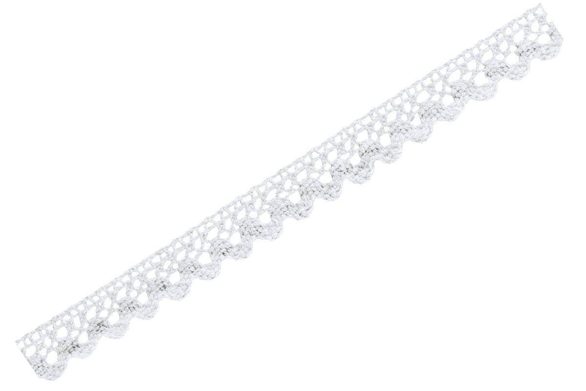 Samolepicí bílá krajka - 1,5 cm x 2 m