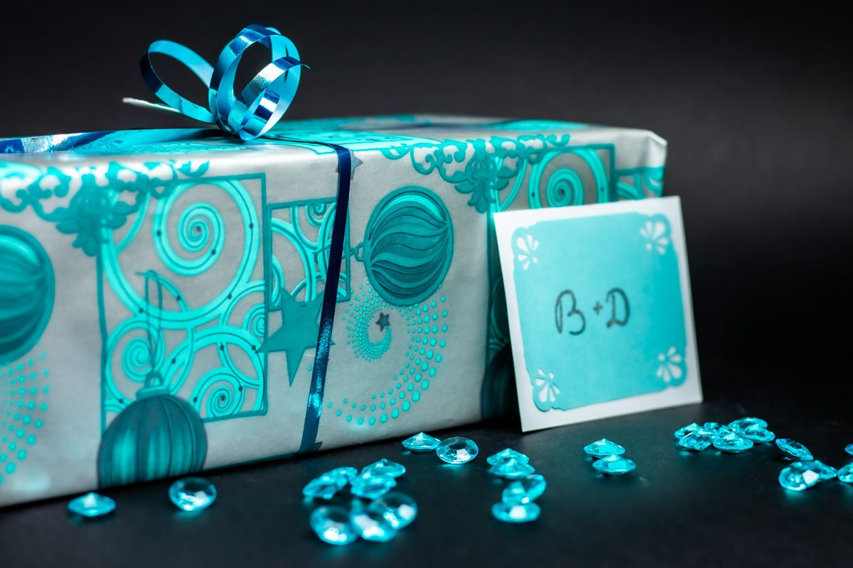 Dekorační akrylové diamanty 100 ks - azurové