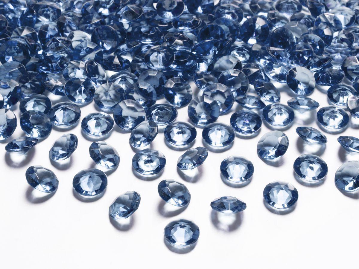 Dekorační akrylové diamanty 100 ks - tmavě modré