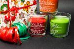 Vonné svíčky se jmény - broskev a pomeranč