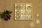 Dřevěné ozdoby - květy