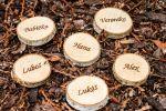 Dřevěná kolečka z břízy - se jmény