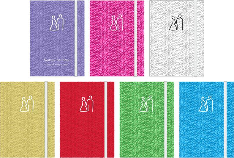 Barvy titulních stran Svatebního diáře Smart
