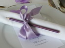 Svatební tužka pro hosty fialová